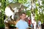 Ein Erinnerungsfoto mit Triceratops